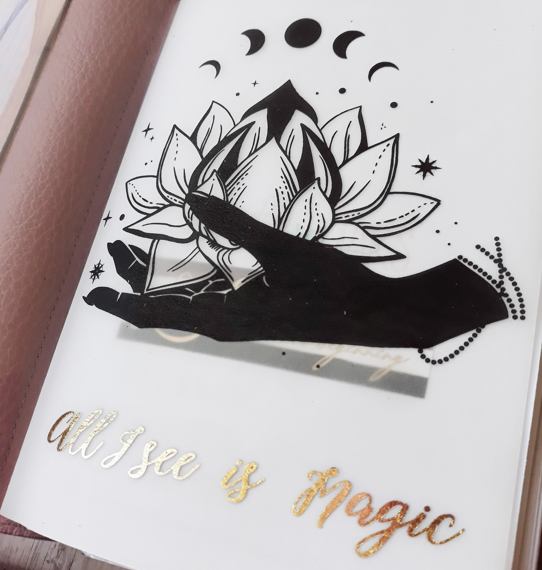 "Vellum Foiled ""Lotus Magic"" Dashboard"