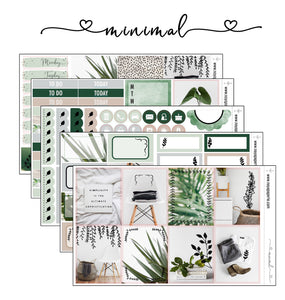 Minimal foiled stickers kit- 5 sheets