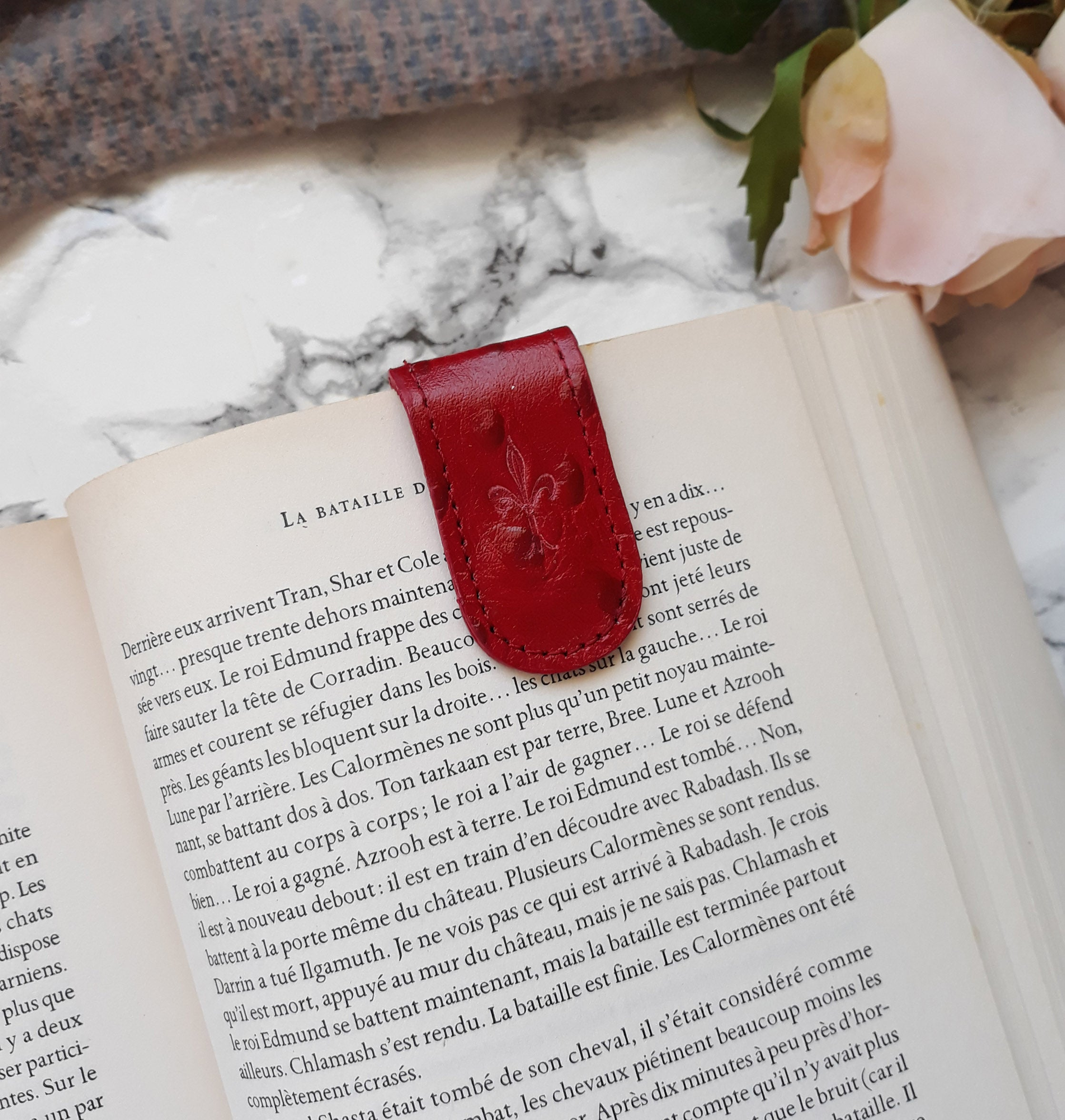 Red Ostrich Magnetic Bookmark