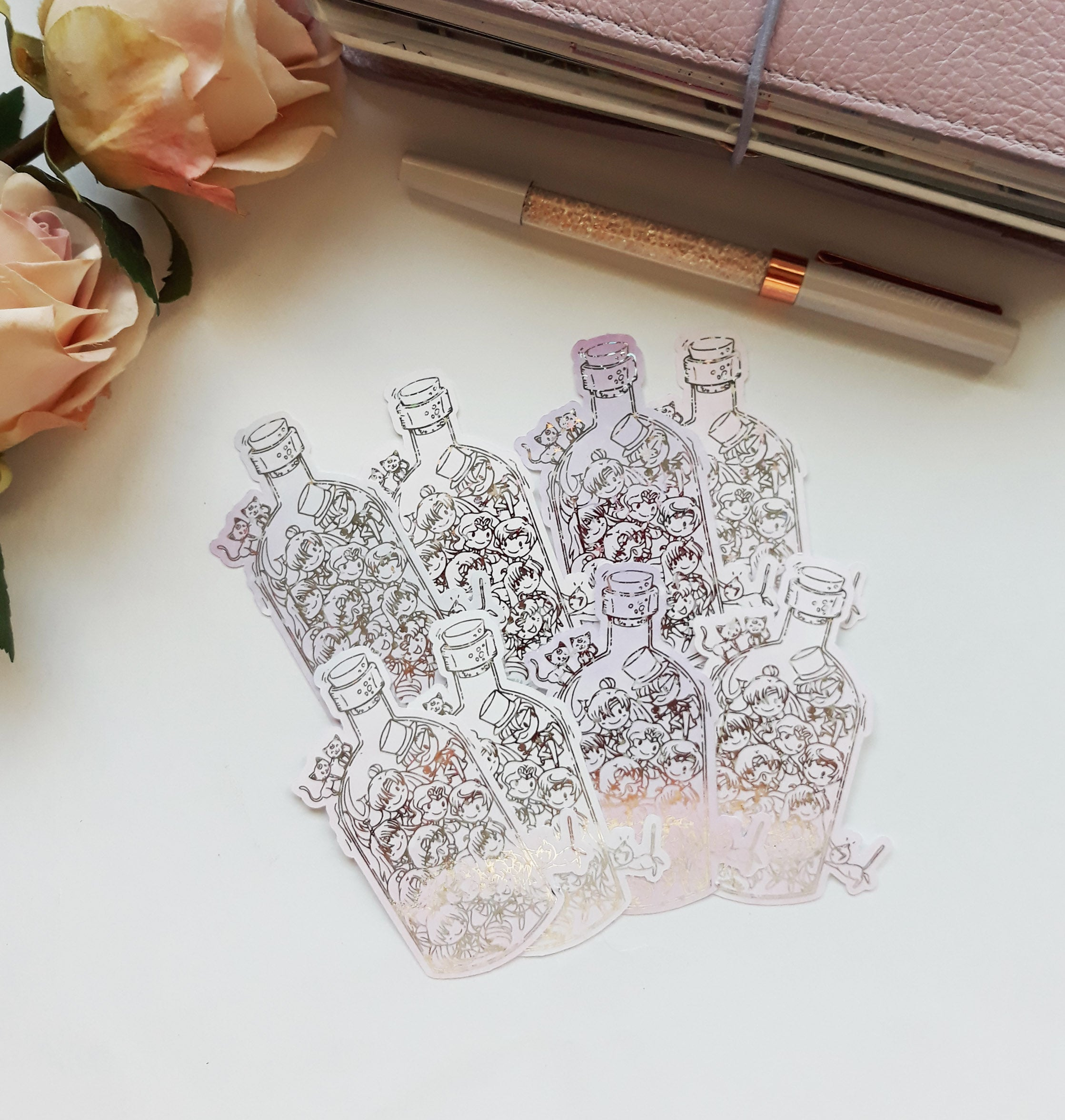 Senshi Bottle Die cut