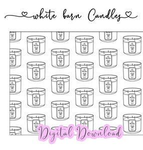 White Barn Candles - Digital Paper