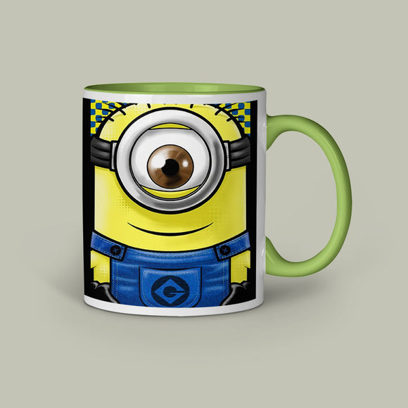 Minion Eye Inner green  Color Coffee Mug