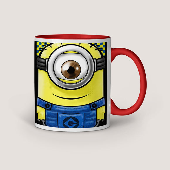 Minion Eye Inner Red Color Coffee Mug