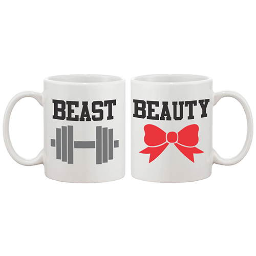 Beast Beauty Couple Coffee Mug