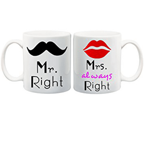 Mr Right Mrs Right Couple Coffee Mug