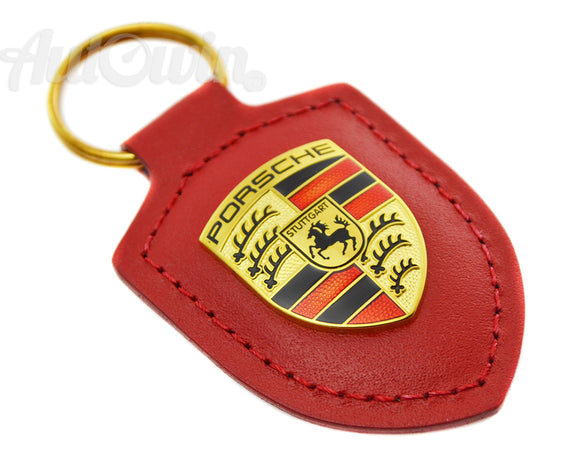 Key Ring - Porsche Emblem Key Ring - RED