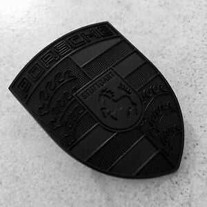Porsche Emblem Bonnet Badge BLACK
