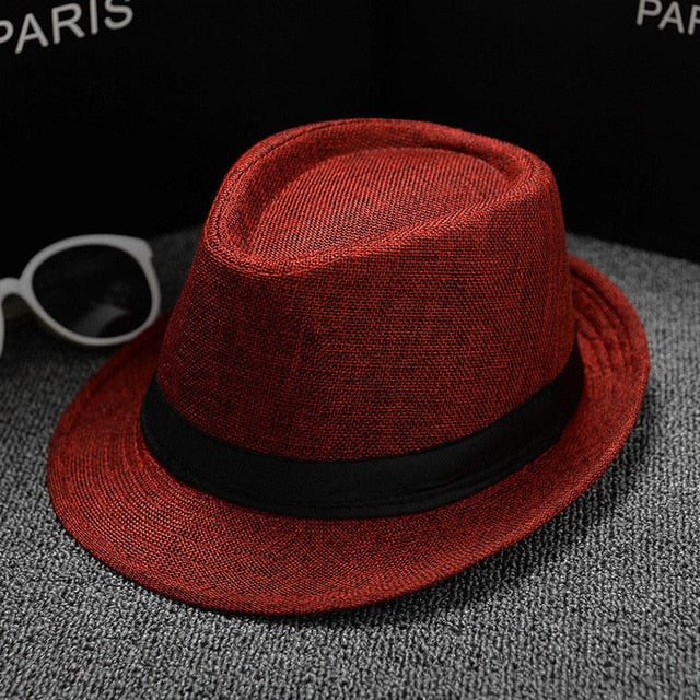 04391b5b037 Summer Men Hat Straw men s cowboy hats cap for men and women bucket hats  with brim. Double tap to zoom