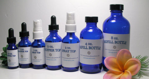 Size options for Divine Healing Liquids / Vibrational Sssences