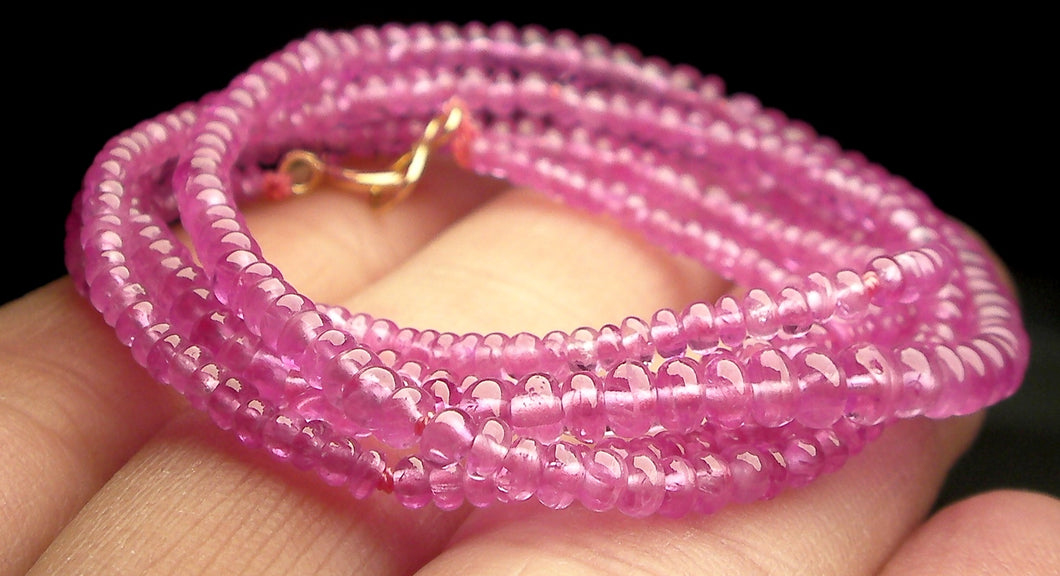 Pink Sapphire EO+ 1.8-3.5mm 22.5inch