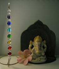 Load image into Gallery viewer, 7 Chakra Rays (Large) - Andara Crystal Medi Tool / Light Catcher