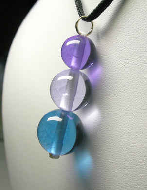 Blue Violet Healing Flame Andara Crystal Simple Wear Pendant