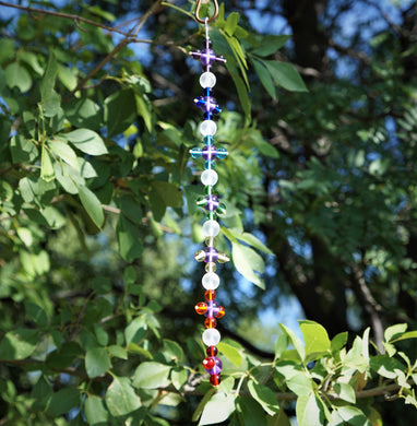 7 Chakra Rays Healing Flames - Andara Crystal Medi Tool / Light Catcher