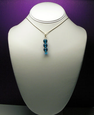 Blue - Bright Dark Andara Crystal Pendant ----- NEW COLOR ------