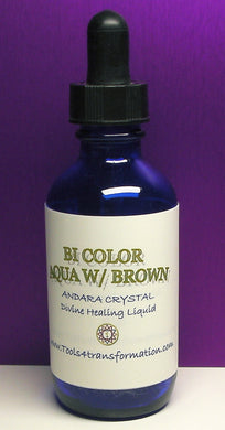 Bi-Color Aqua with Brown Andara Crystal Liquid
