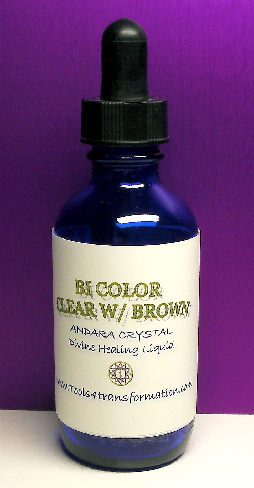 Bi-Color Clear with Brown Andara Crystal Liquid