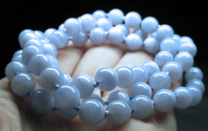 Blue Lace Agate EO++ 8+mm 24.5inch