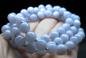 Blue Lace Agate EO++ 8+mm 25.5inch