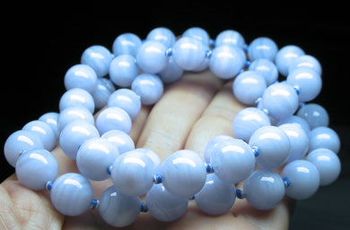Blue Lace Agate EO++ 10+mm 25.5inch