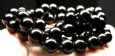 Black Obsidian Therapeutic Necklace 24