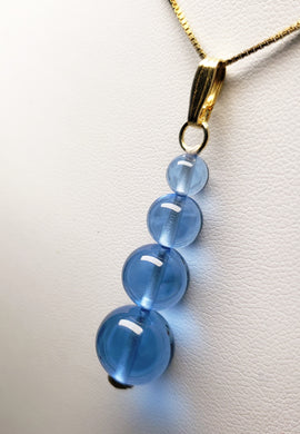 Blue Andara Crystal Pendant (1 x 6-12mm)