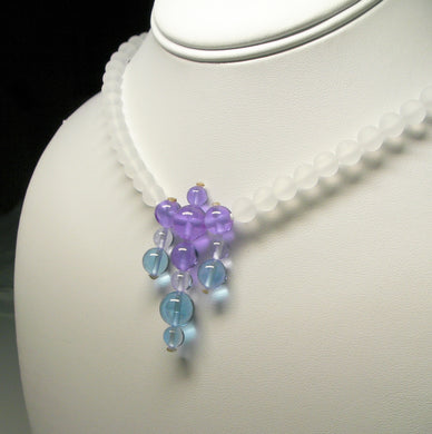Blue Violet Flame Andara Crystal Necklace 19inch