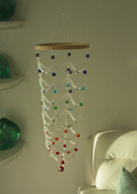 Andara Crystal Light Catcher for home/meditation room - Chakra colors