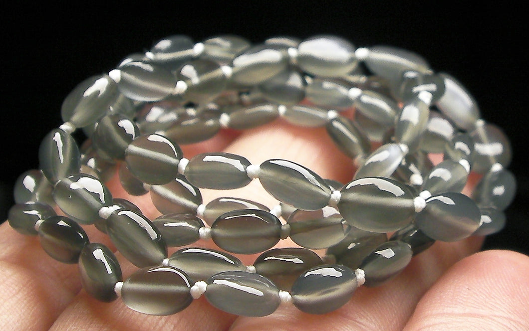 Grey Moonstone EO++ 4x6mm-5.5x7mm 24inch