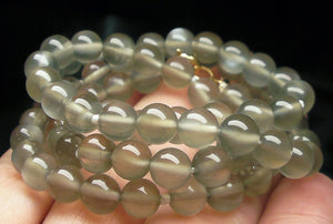 Grey Moonstone EO+ 6+mm 19.5inch