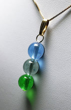 Load image into Gallery viewer, Green Violet Healing Flame Andara Crystal Pendant