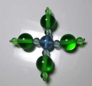Green Violet Healing Flame Andara Crystal Specialized Healing Tool