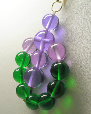 Green Violet Healing Flame Andara Crystal Pendant - Physical Healing