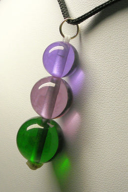 Green Violet Healing Flame Andara Crystal Simple Wear Pendant