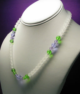 Green Violet Flame Andara Crystal Necklace 17.75inch High Vibe