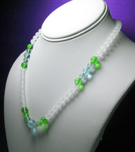 Load image into Gallery viewer, Green Violet Flame Andara Crystal Necklace 17.75inch High Vibe