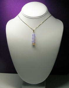 Opalesence Lavender Andara Crystal Pendant (3 x 10mm)