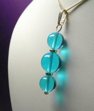 Load image into Gallery viewer, Blue - Bright Light Andara Crystal with Gold Pendant (2 x 10mm & 1 x 12mm)