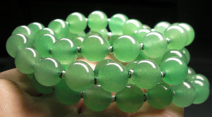 Light Green Aventurine EO+ 8+mm 24.5inch - Tools4transformation