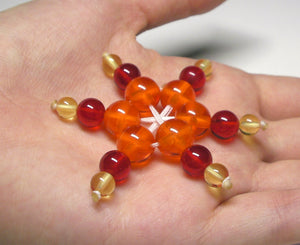 Red / Orange / Yellow Andara Crystal Specialized Healing Tool