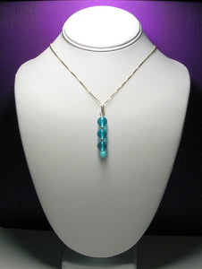 Blue (Light) Andara Crystal with Gold Pendant - Tools4transformation