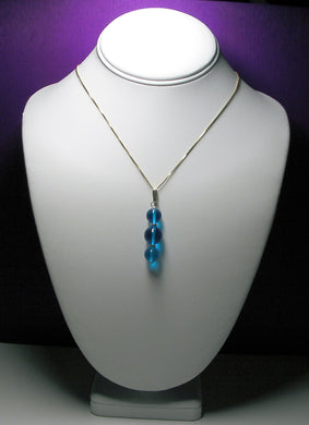 Blue (Bright Medium) Andara Crystal with Gold Pendant - Tools4transformation