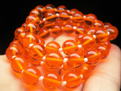 Orange Andara Crystal Necklace 8mm 24inch