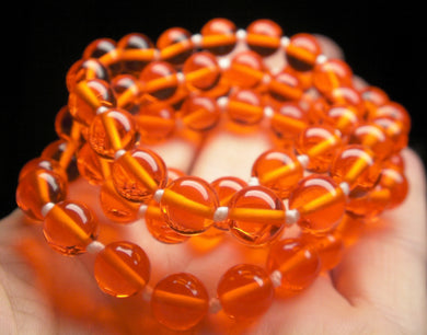 Orange Andara Crystal Necklace 8mm 25.25inch