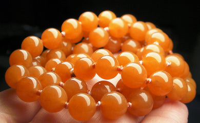 Peach Aventurine EO 8+mm 24.5inch