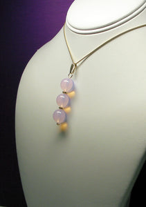 Pink Opalescence Andara Crystal with Gold Pendant - Tools4transformation