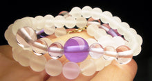 Load image into Gallery viewer, Pink Violet Flame Andara Crystal Necklace 18.25inch