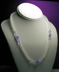 Pink Violet Flame Andara Crystal Necklace 20.25inch