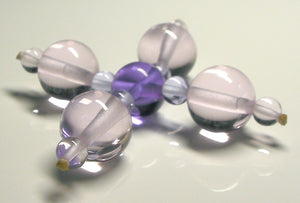 Pink Violet Healing Flame Andara Crystal Specialized Healing Tool
