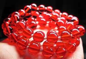 Red Andara Crystal Necklace 8mm 25inch