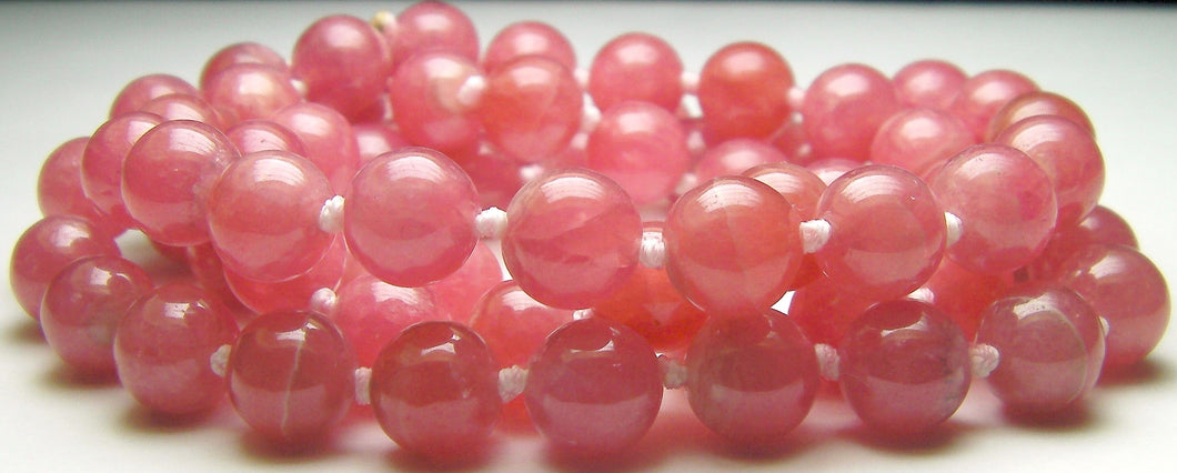 Rhodochrosite EO 8+mm 27inch - Tools4transformation